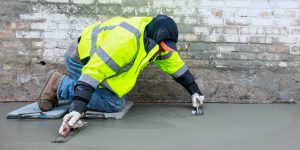Ponce Contractors Inc. Finishing Concrete in Chicago